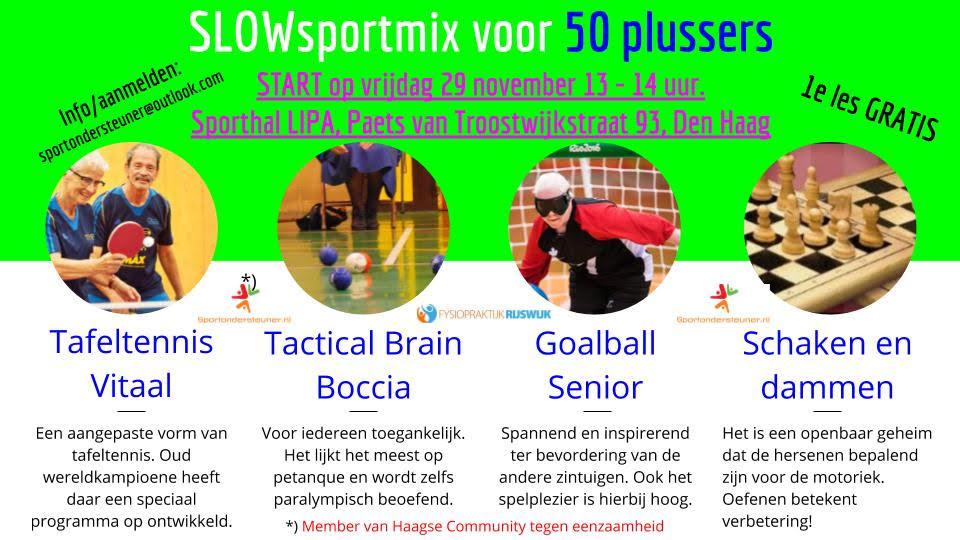 SLOWsportmix voor 50 plussers